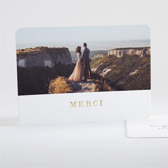 Remerciement mariage Notre horizon réf.N18102