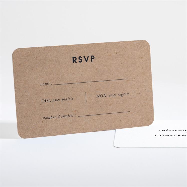 Carton réponse mariage Précieux cadeau réf.N16141