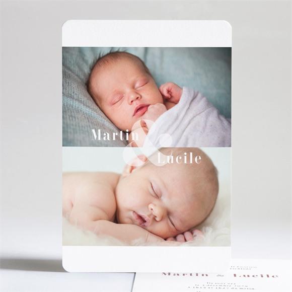 Faire-part naissance Nos beaux jumeaux réf.N241165