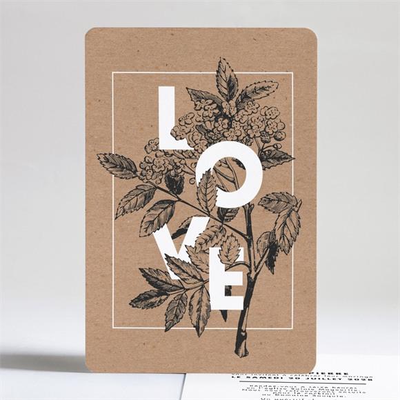Faire-part mariage Love gravure réf.N241170
