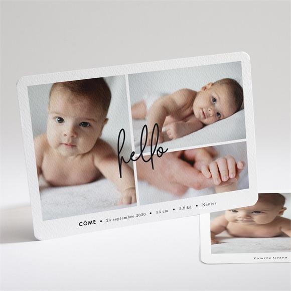 Faire-part naissance Hello en photos réf.N14195