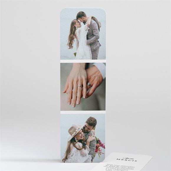 Remerciement mariage Epuré réf.N201111