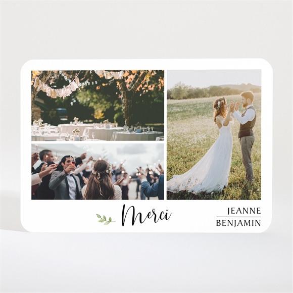Remerciement mariage Nature chic Magnet réf.N11028