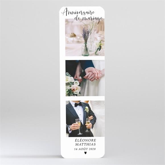 Invitation anniversaire de mariage Notre petit marque page magnet réf.N200370
