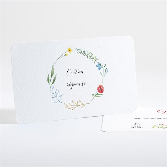 Carton réponse mariage Fleurs des Champs réf.N161184
