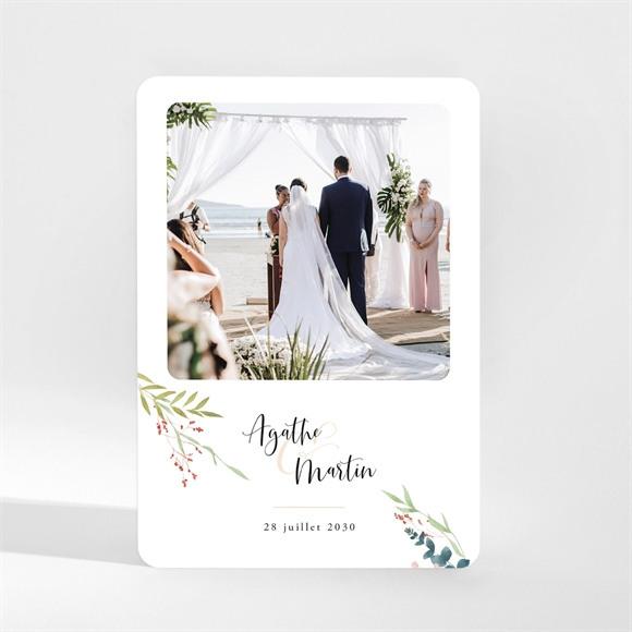 Remerciement mariage Bouquet ardent réf.N21084