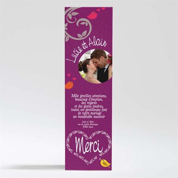 Remerciement mariage réf. N20025 réf.N20025