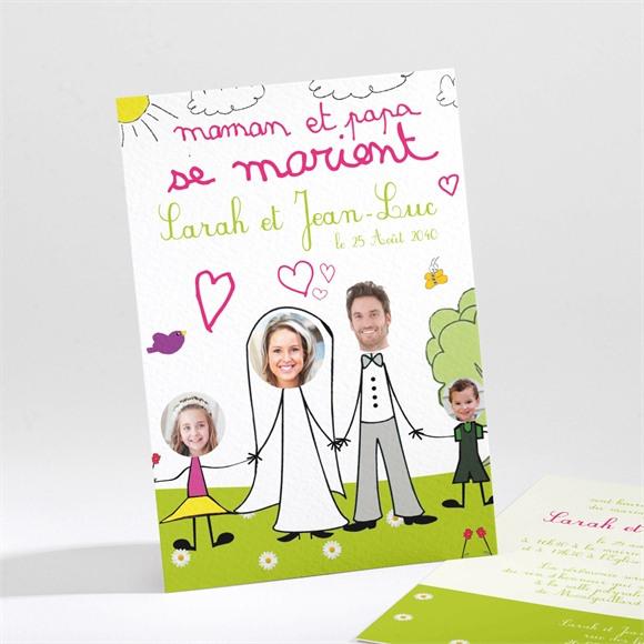 Faire-part mariage Papa et Maman se marient! réf.N21111