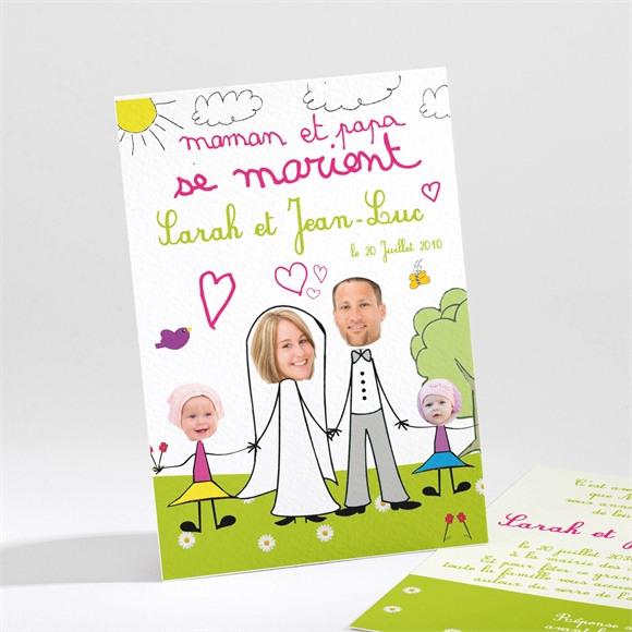 Faire-part mariage Les enfants font l'annonce ! réf.N21116