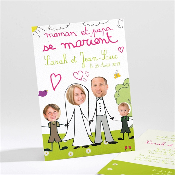Faire-part mariage Notre Belle Famille réf.N21117