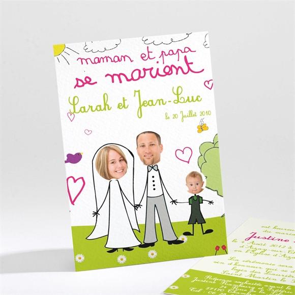 Faire-part mariage J'annonce leur mariage réf.N21118