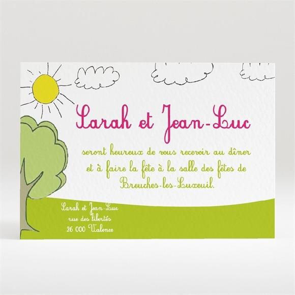 Carton d'invitation mariage Papa et Maman se marient! réf.N12031