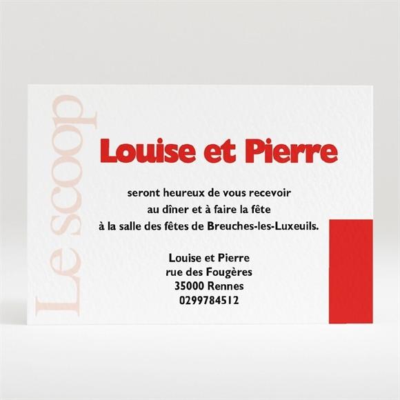 Carton d'invitation mariage Imitation magazine humour réf.N12032