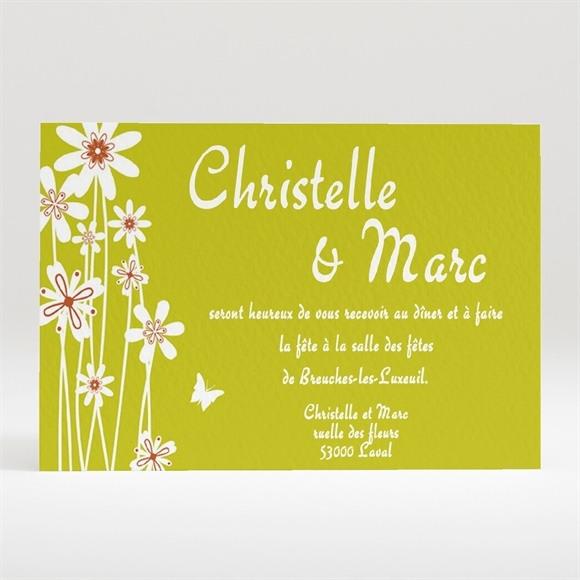 Carton d'invitation mariage Marguerite de l'Amour réf.N12034