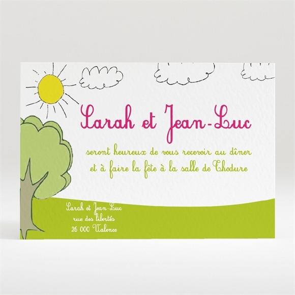 Carton d'invitation mariage Les enfants font l'annonce ! réf.N12036