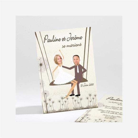 Faire-part mariage Sur la balançoire réf.N21120