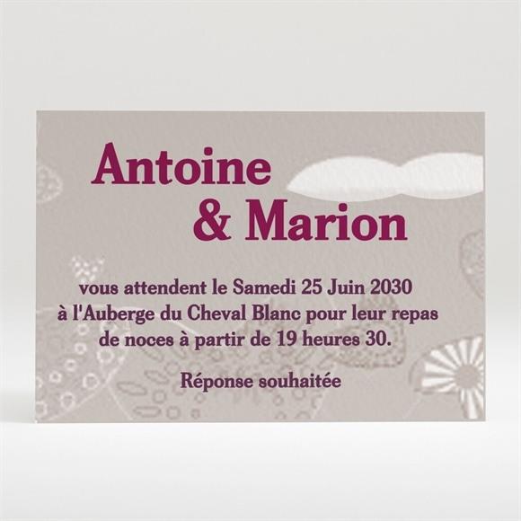 Carton d'invitation mariage Montgolfière de coeurs réf.N12043