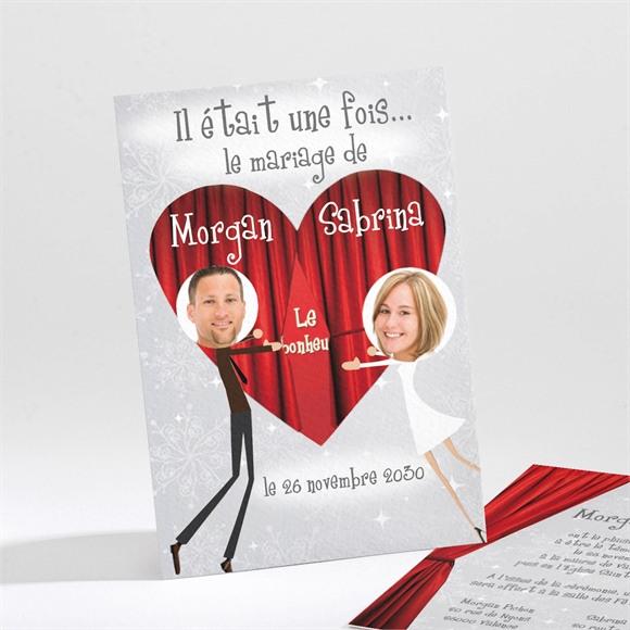Faire-part mariage Carte invitation originale réf.N21124