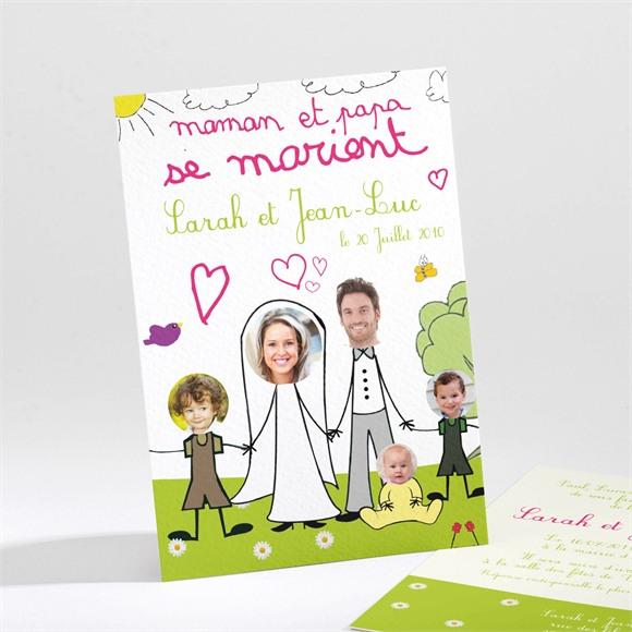 Faire-part mariage Papa et Maman se marient réf.N21166