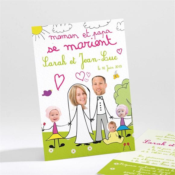 Faire-part mariage Ils se marient réf.N21125