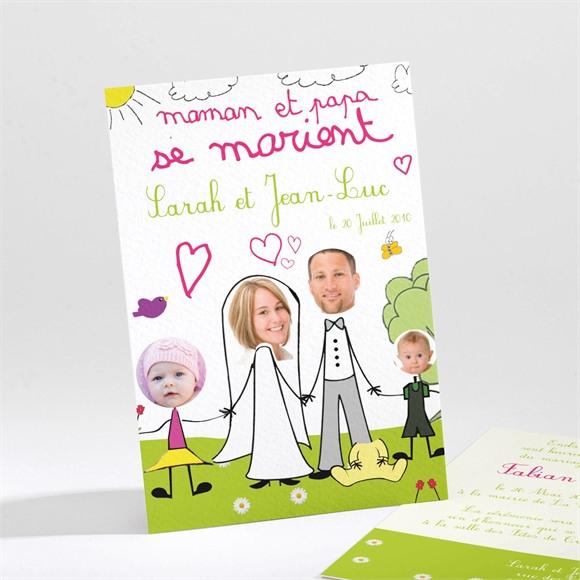 Faire-part mariage Vive les mariés réf.N21126