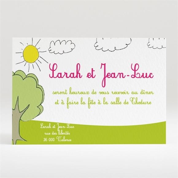 Carton d'invitation mariage Vive les mariés réf.N12047