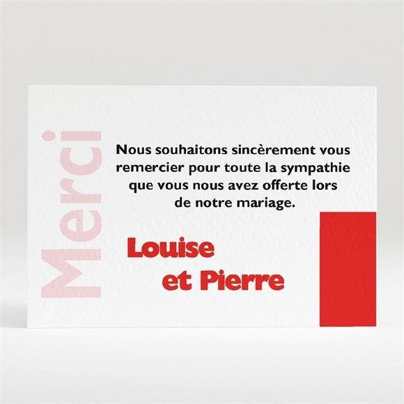 Remerciement mariage Imitation magazine humour réf.N12079