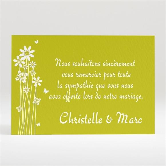 Remerciement mariage Marguerite de l'Amour réf.N12062