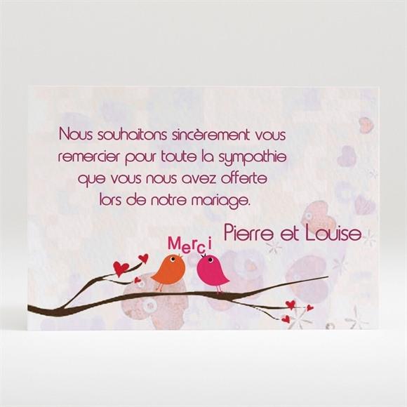 Remerciement mariage Carte originale réf.N12069
