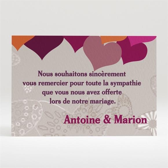 Remerciement mariage Montgolfière de coeurs réf.N12081