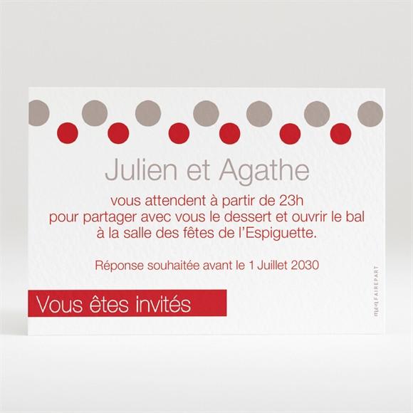 Carton d'invitation mariage Humour original réf.N12048