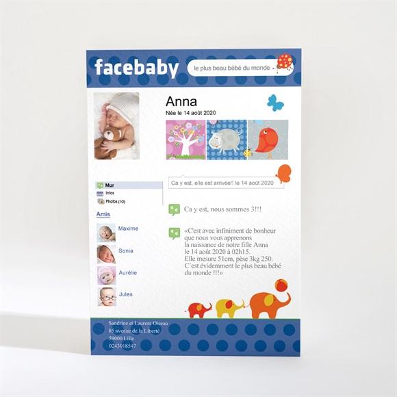 Faire-part naissance Facebaby réf.N21006
