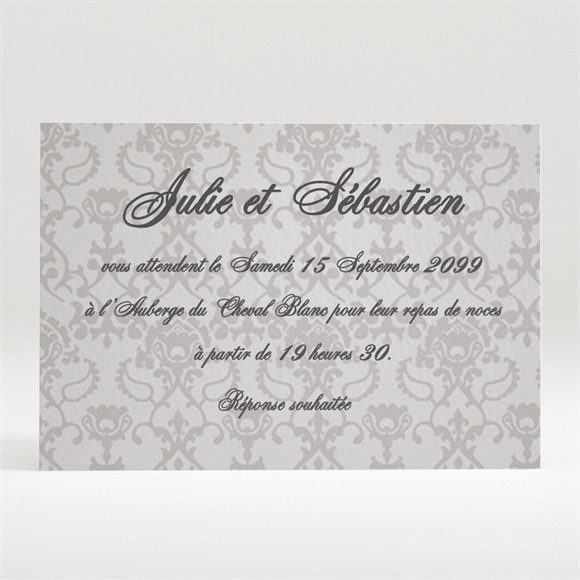Carton d'invitation mariage réf. N12055 réf.N12055