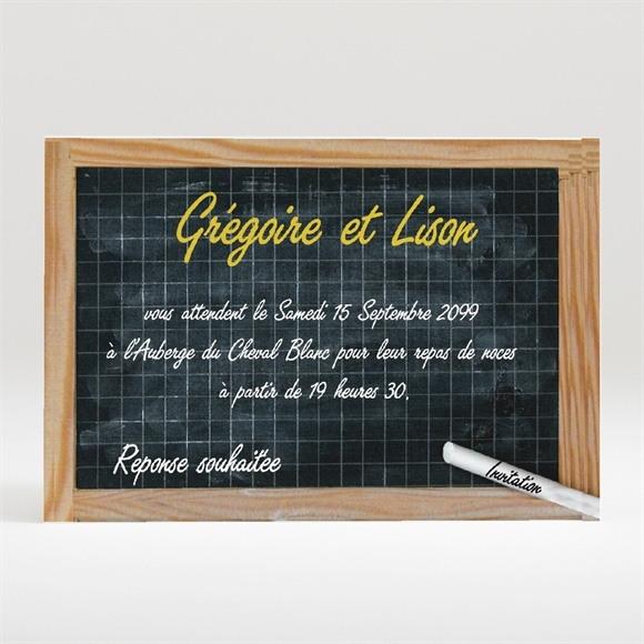 Carton d'invitation mariage Au tableau ! réf.N12078