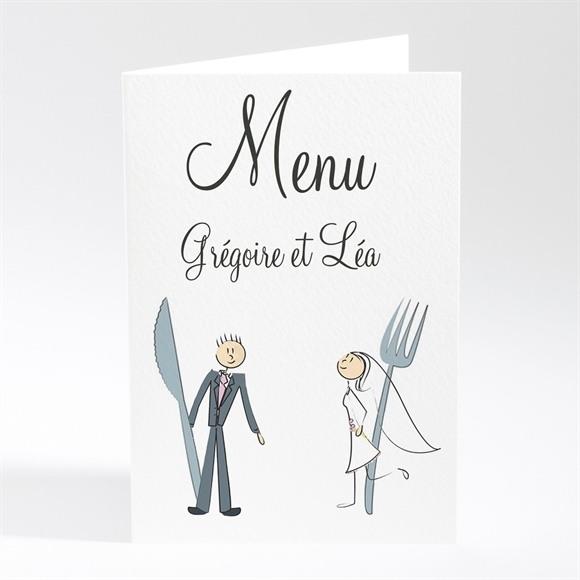 Menu mariage Notre Coup de Foudre réf.N40131