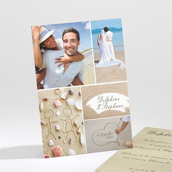 Faire-part mariage Sur la plage réf.N21161