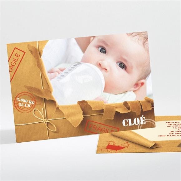 Faire-part naissance Paquet fragile réf.N11101