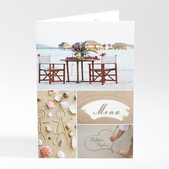 Menu mariage Sur la plage réf.N40104