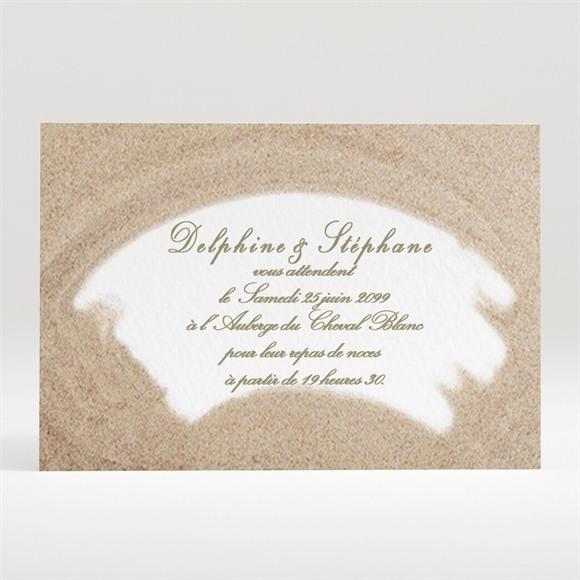 Carton d'invitation mariage Sur la plage réf.N12050