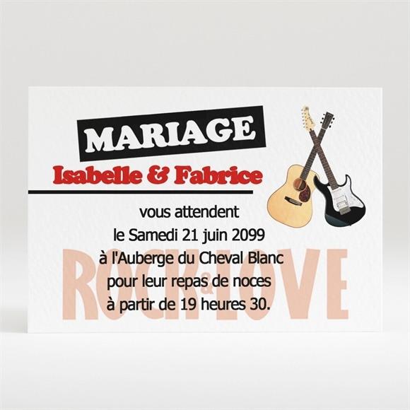 Carton d'invitation mariage Rock and Love réf.N12051