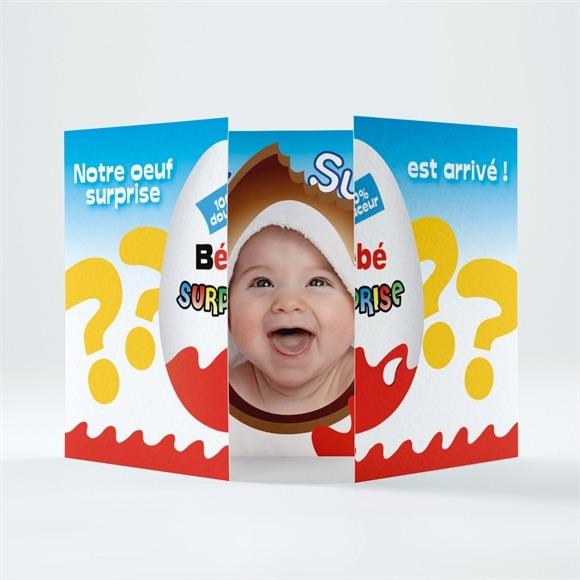 Faire-part naissance Petit Oeuf Surprise réf.N70103