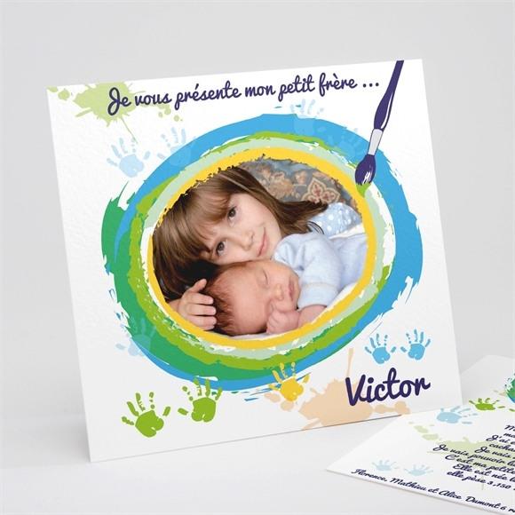 Faire-part naissance Carte naissance photo souvenir réf.N31102