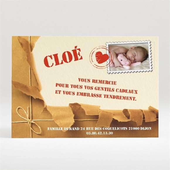 Remerciement naissance Paquet fragile réf.N12010