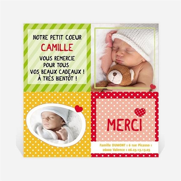 Remerciement naissance réf. N30003 réf.N30003