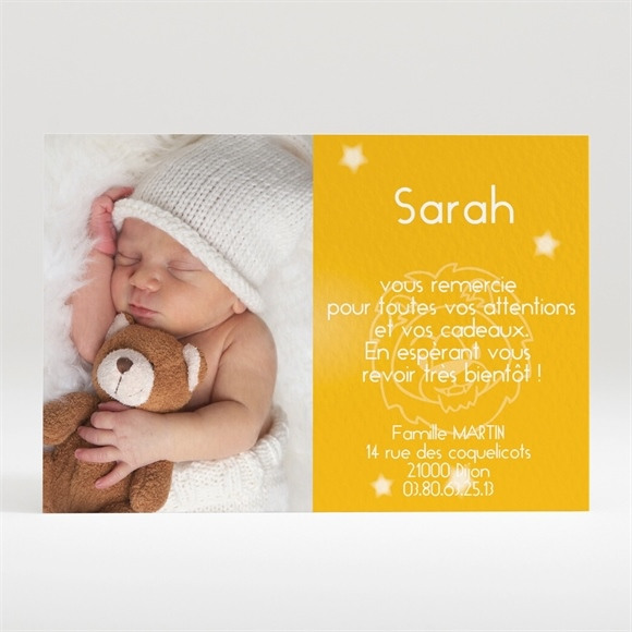 Remerciement naissance réf. N12023 réf.N12023