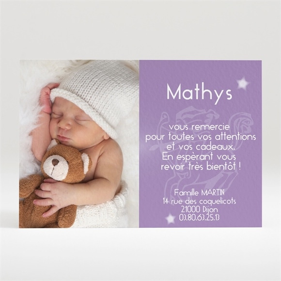 Remerciement naissance réf. N12025 réf.N12025
