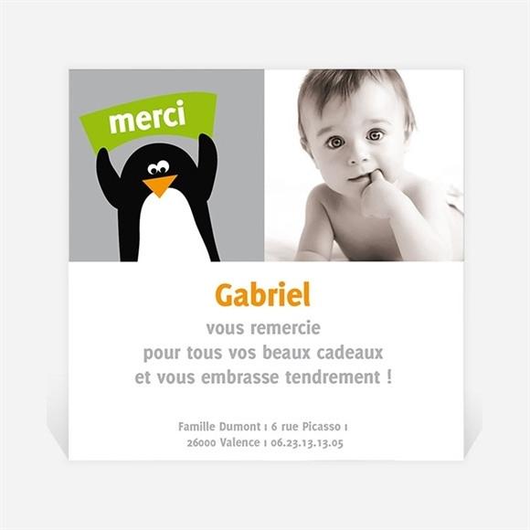 Remerciement naissance Notre Petit Pingouin réf.N30004