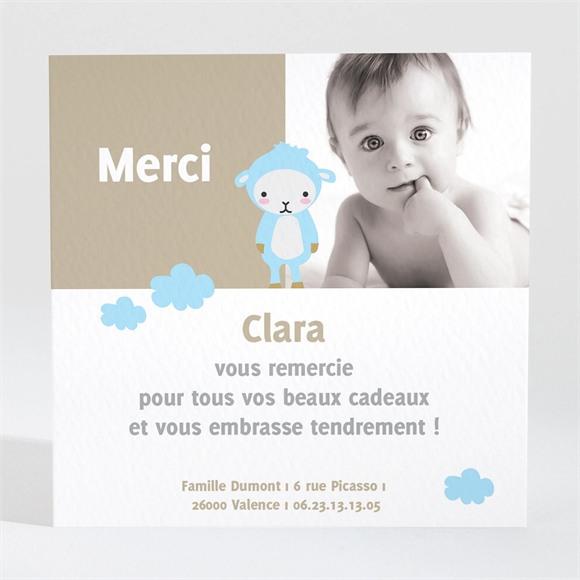 Remerciement naissance Mouton peluche photo réf.N30005
