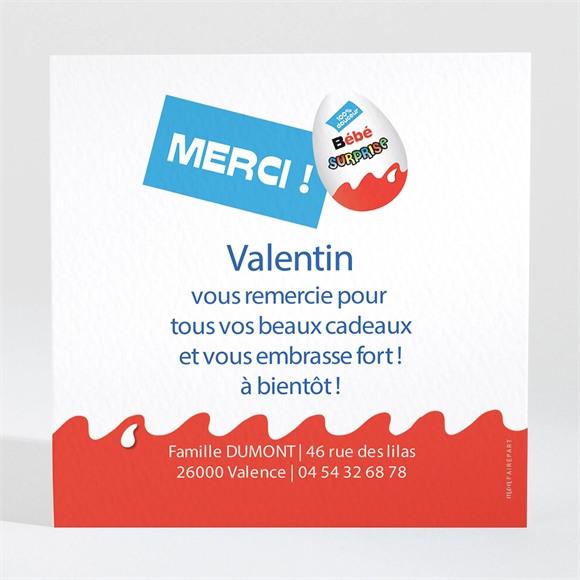 Remerciement naissance Petit Oeuf Surprise réf.N30007