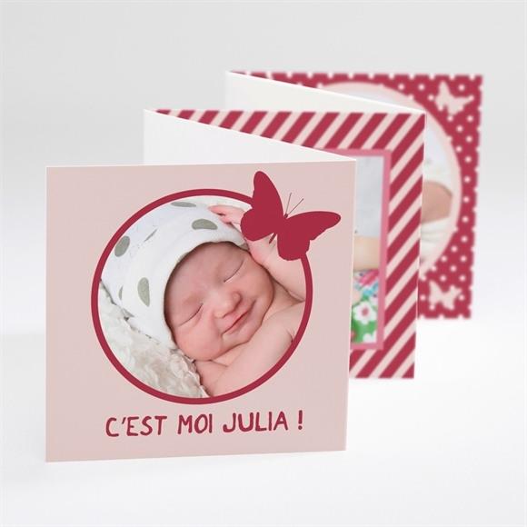Faire-part naissance Cadre Papillon réf.N80005